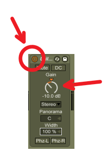 Ableton Live -10 DB Diminish Button
