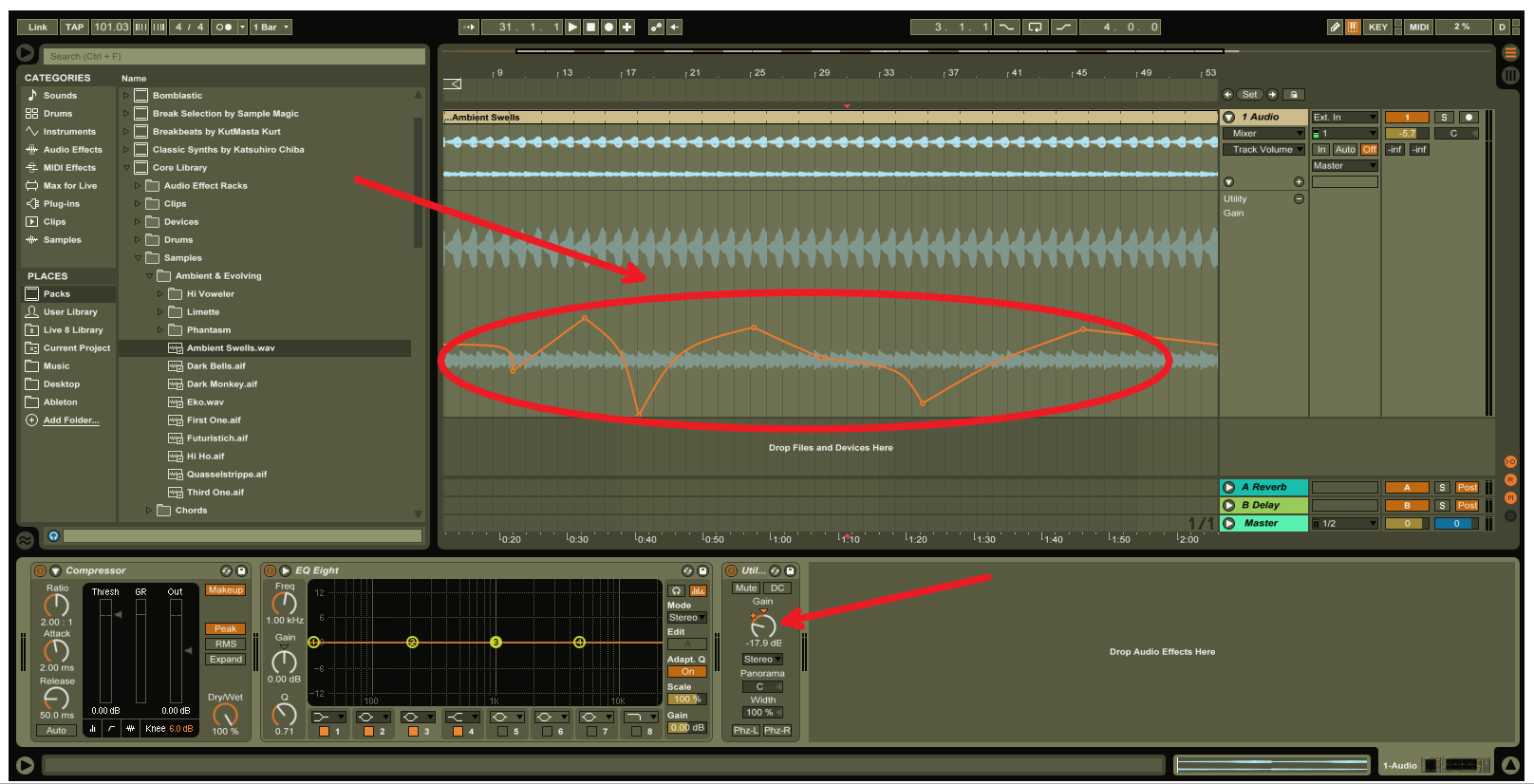 Ableton Live Gain Staging Volume Automation