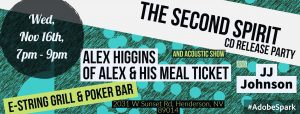 The Second Spirit – Modern Life CD release party with Alex Higgins of Alex and His Meal Ticket and JJ Johnson
