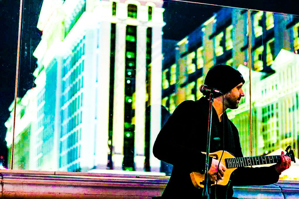 Busking by The Las Vegas Cromwell and Drai's After Hours Nightclub