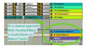 Ableton Vocal Return Tracks Audio Rack