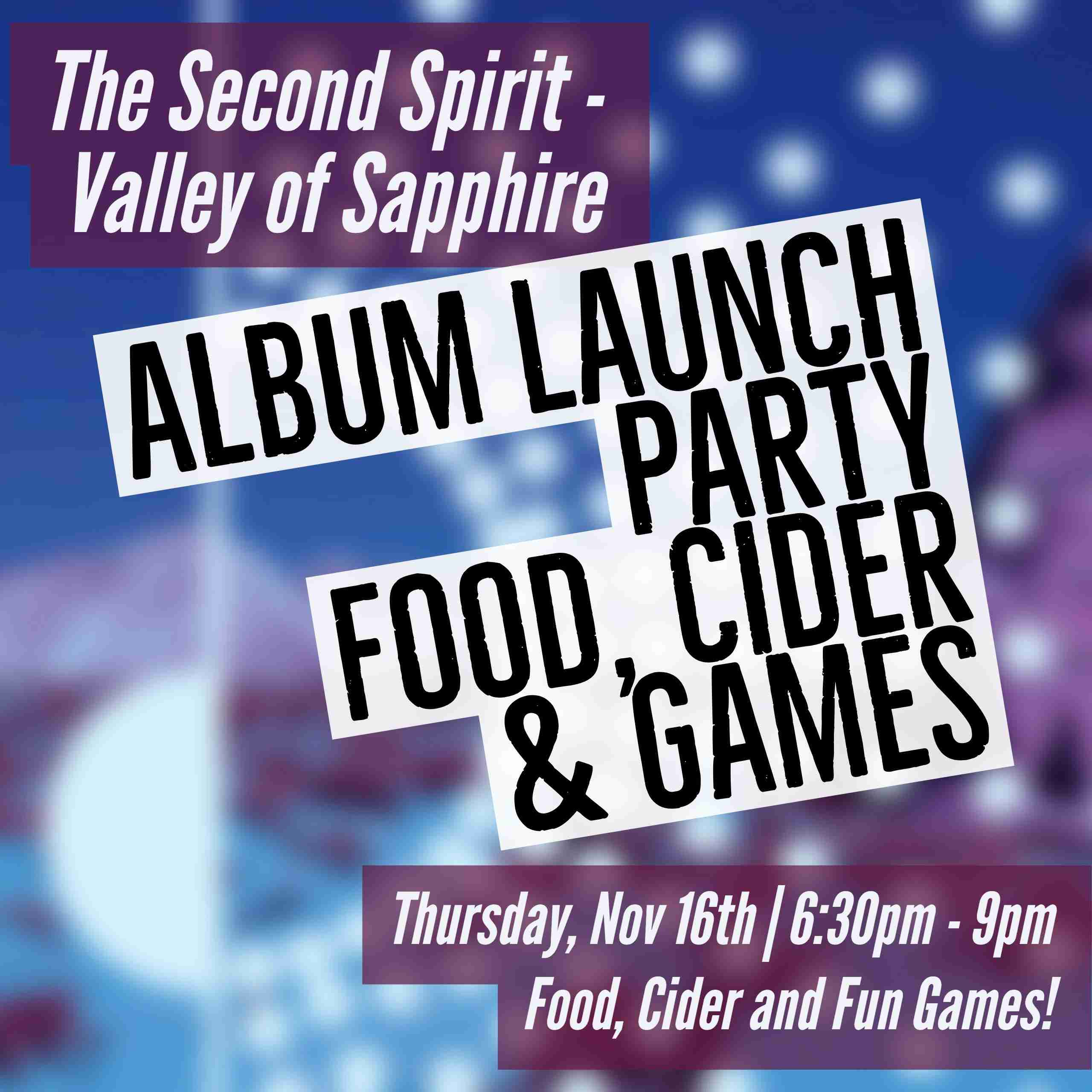 Valley of Sapphire Album Release Party Event Website 150k