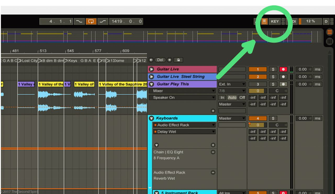 Ableton Performance Tip - Key-Map the Re-Enable Automation