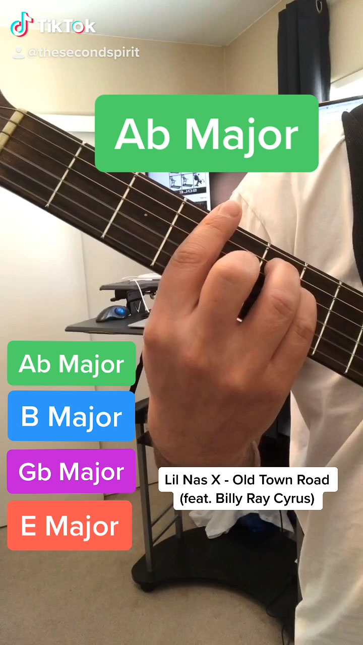 """How to play Easy Guitar Chords - Lil Nas X """"Old Town Road"""""""